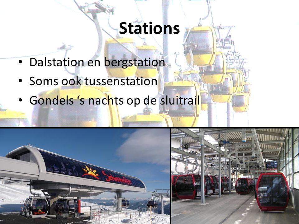 Stations Dalstation en bergstation Soms ook tussenstation