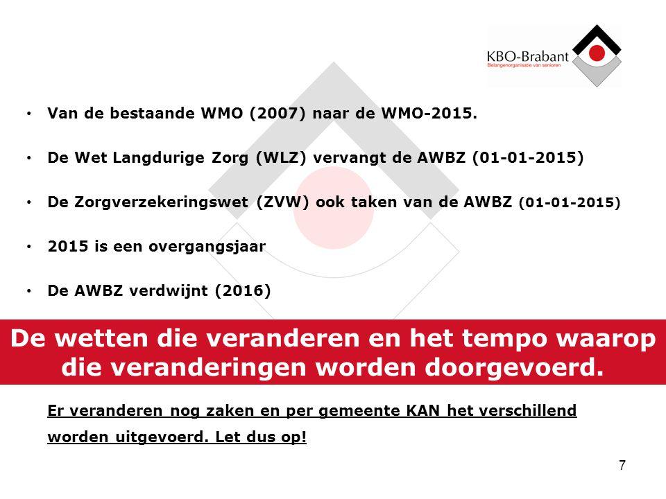 Van de bestaande WMO (2007) naar de WMO-2015.