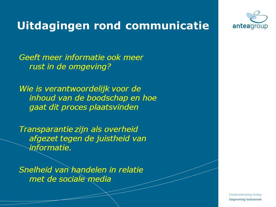 Uitdagingen rond communicatie