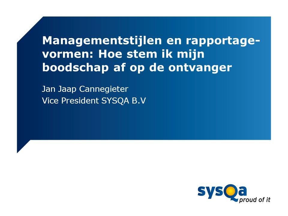 Jan Jaap Cannegieter Vice President SYSQA B.V