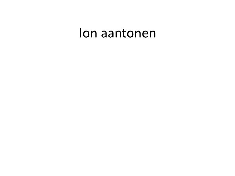 Ion aantonen