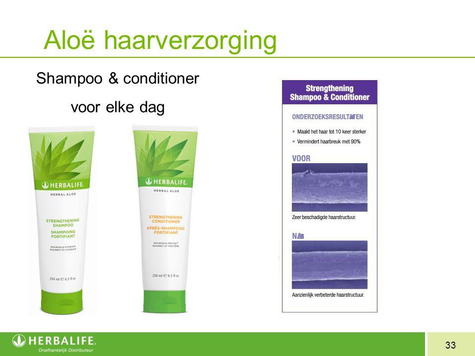 Aloë haarverzorging Shampoo & conditioner voor elke dag