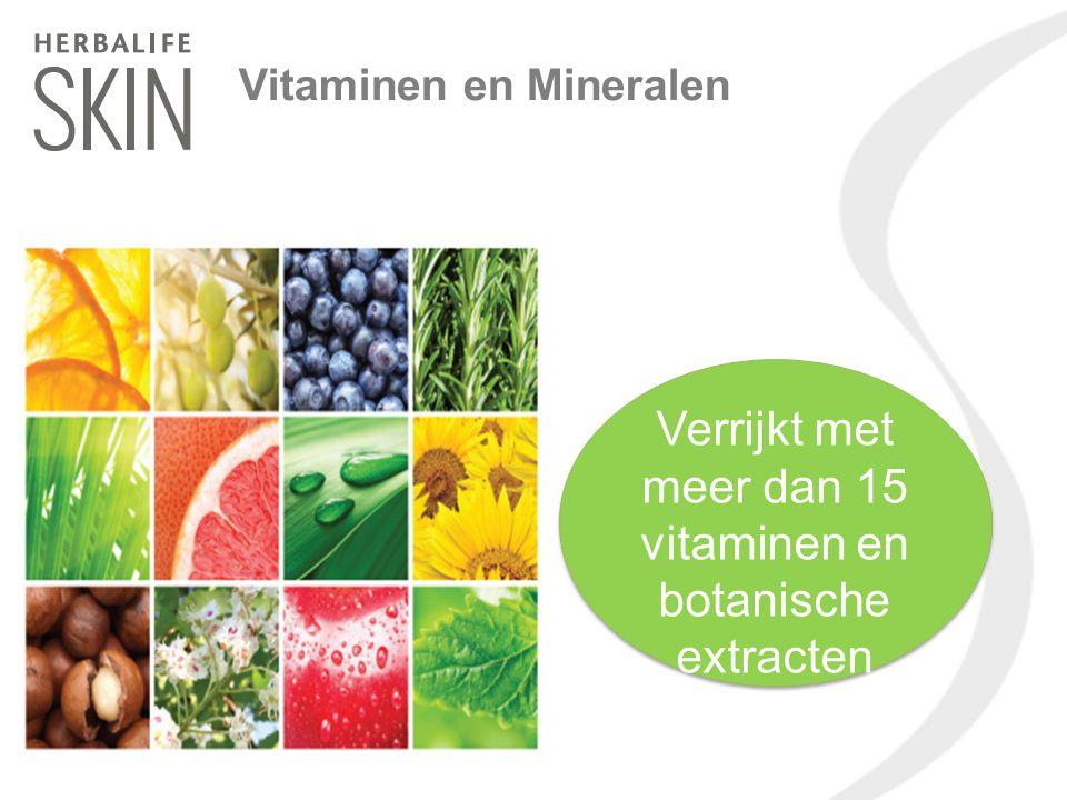 Verrijkt met meer dan 15 vitaminen en botanische extracten