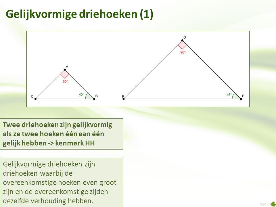 Gelijkvormige driehoeken (1)