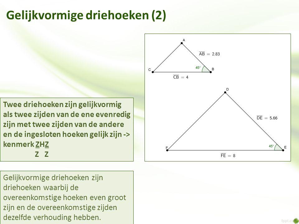 Gelijkvormige driehoeken (2)