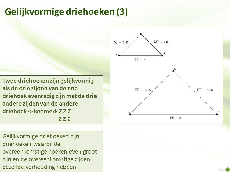 Gelijkvormige driehoeken (3)