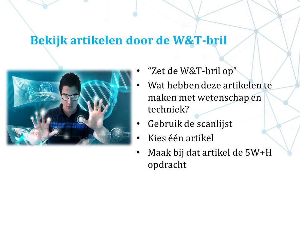 Bekijk artikelen door de W&T-bril