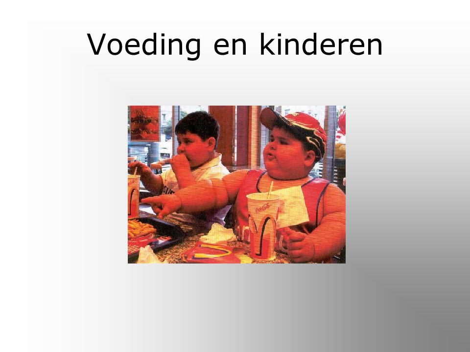 Voeding en kinderen