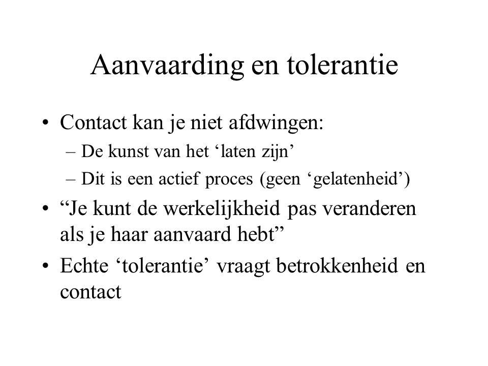 Aanvaarding en tolerantie