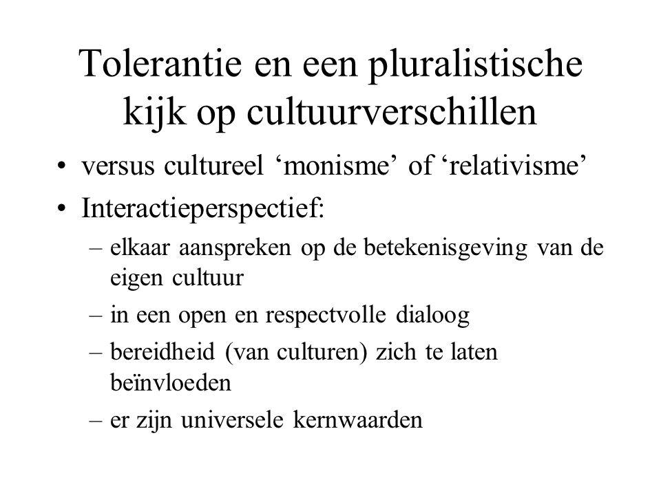 Tolerantie en een pluralistische kijk op cultuurverschillen