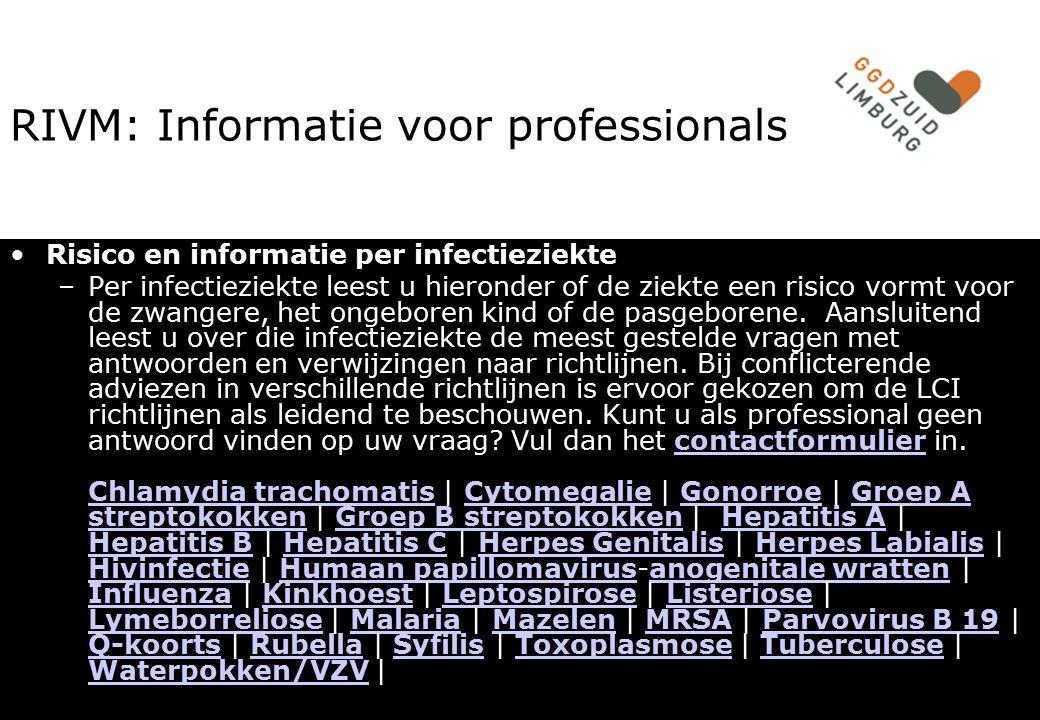 RIVM: Informatie voor professionals