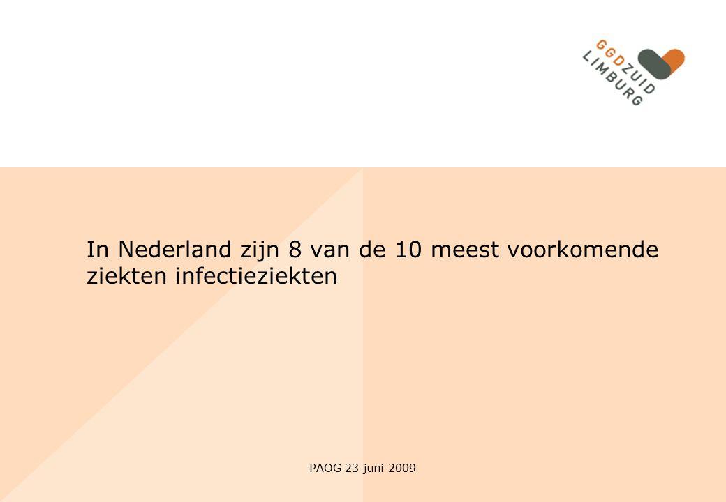 In Nederland zijn 8 van de 10 meest voorkomende ziekten infectieziekten