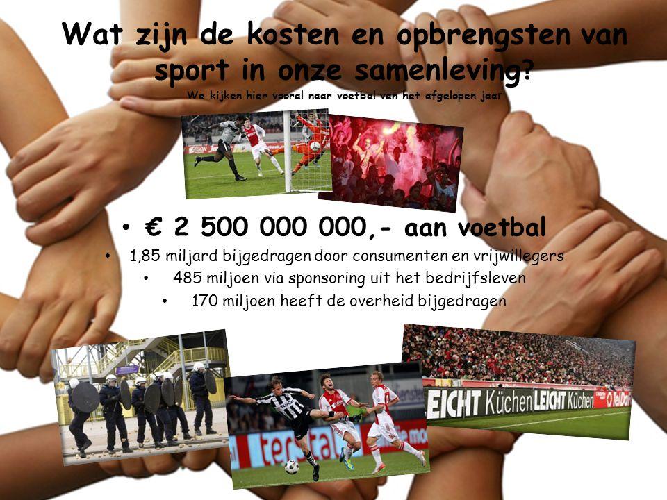 Wat zijn de kosten en opbrengsten van sport in onze samenleving