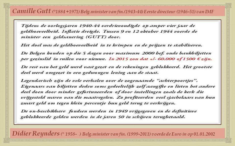 Camille Gutt (°1884 +1971) Belg. minister van fin
