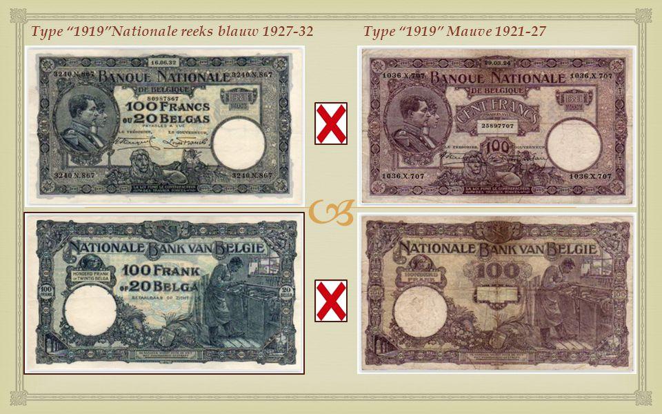 Type 1919 Nationale reeks blauw 1927-32