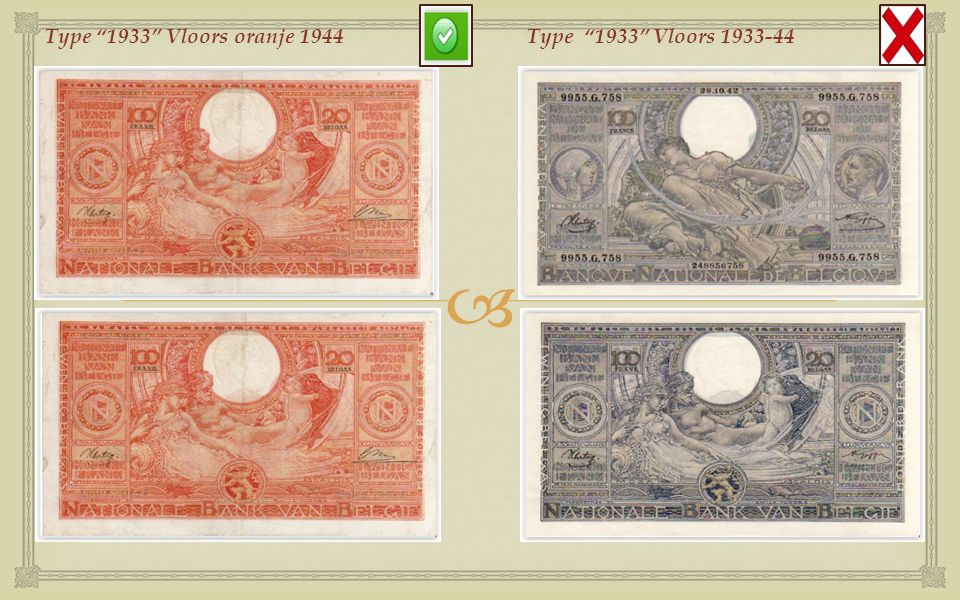 Type 1933 Vloors oranje 1944 Type 1933 Vloors 1933-44