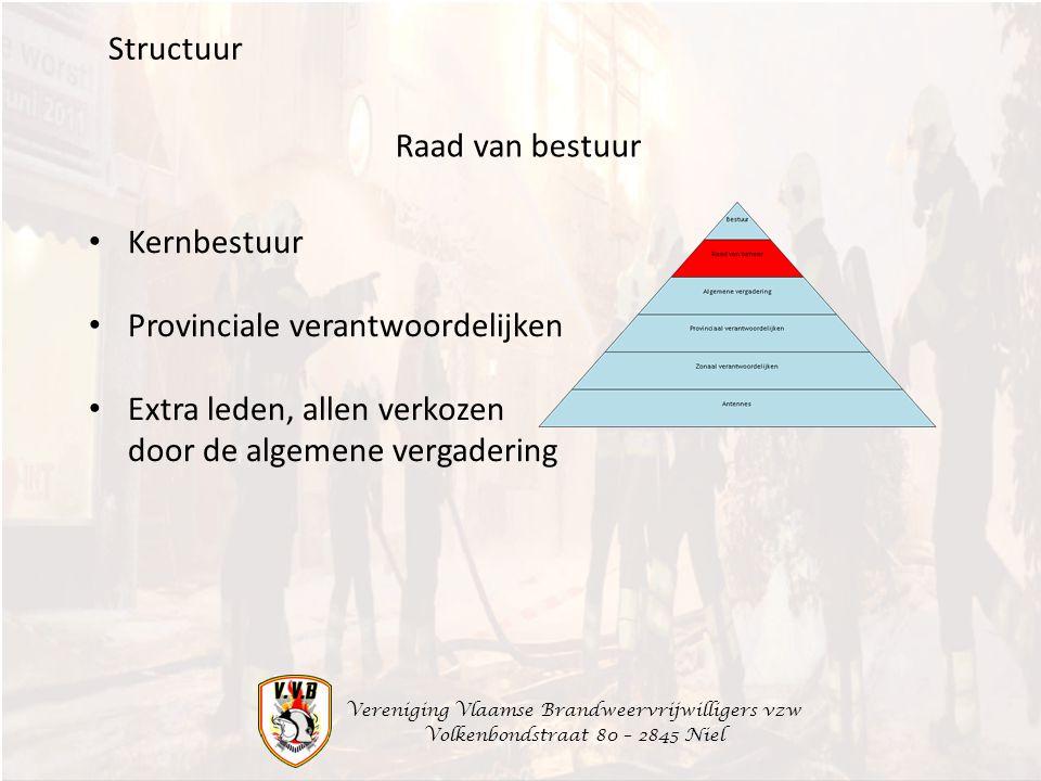 Provinciale verantwoordelijken