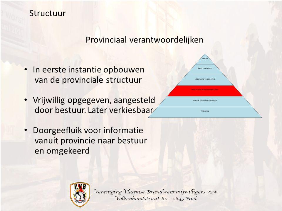 Provinciaal verantwoordelijken