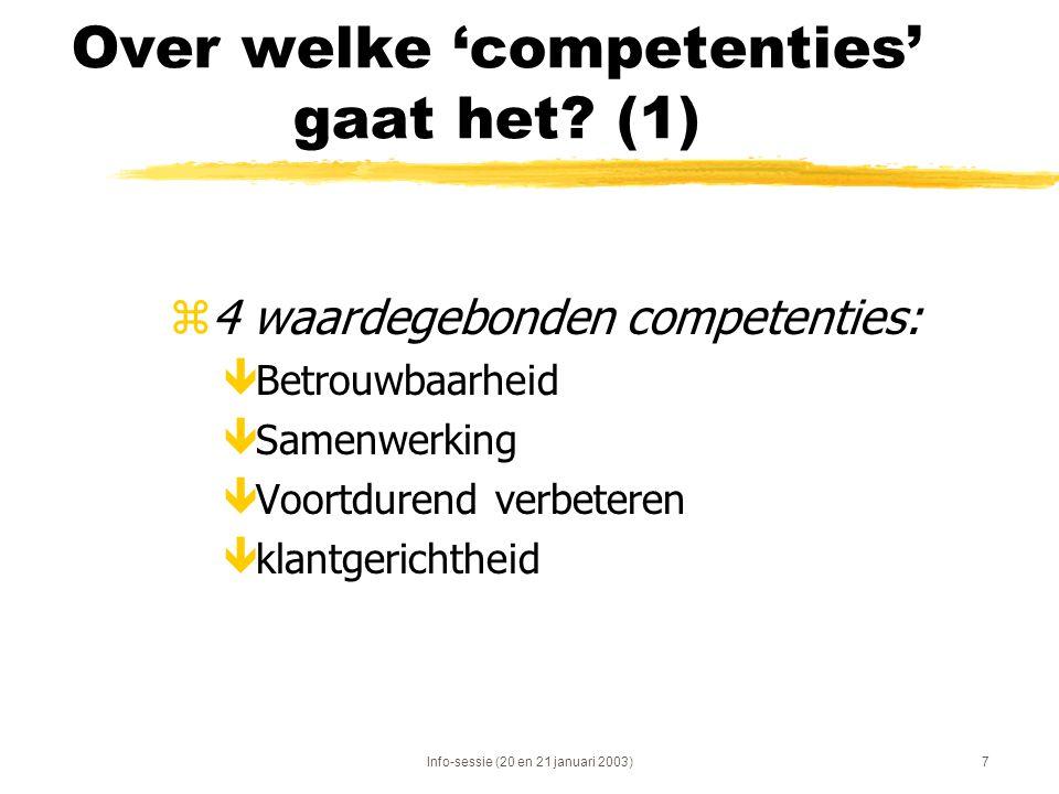 Over welke 'competenties' gaat het (1)