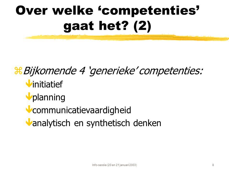 Over welke 'competenties' gaat het (2)