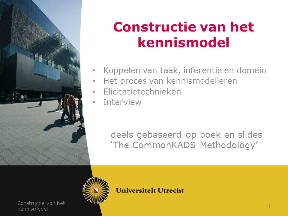Constructie van het kennismodel