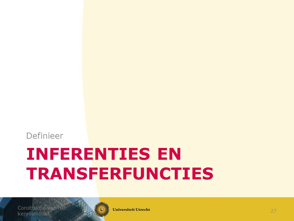 Inferenties en transferfuncties