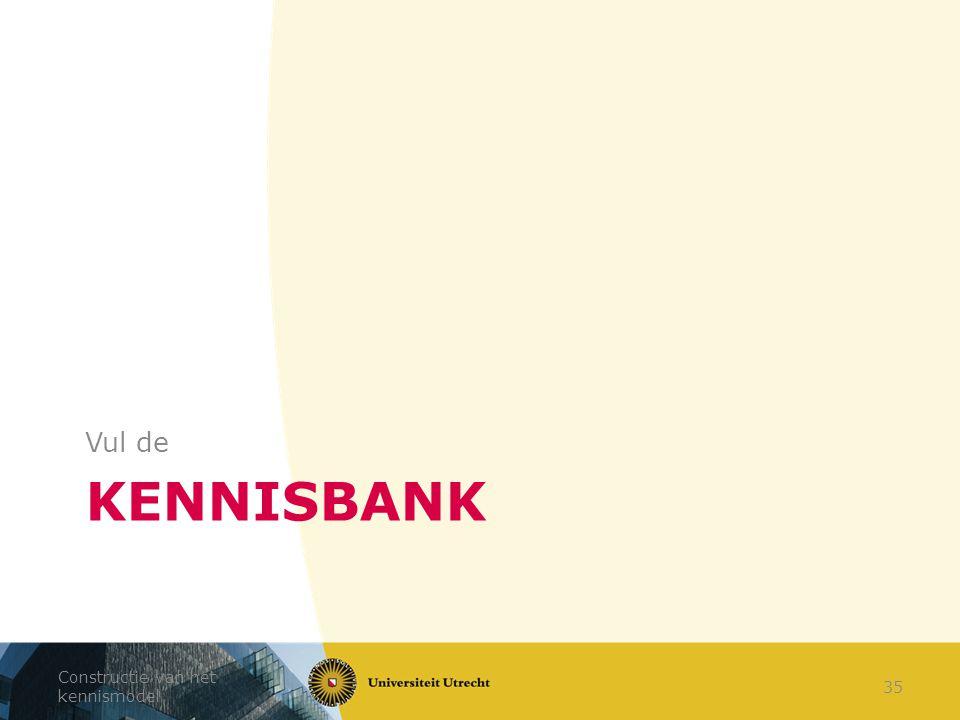 Vul de Kennisbank Constructie van het kennismodel
