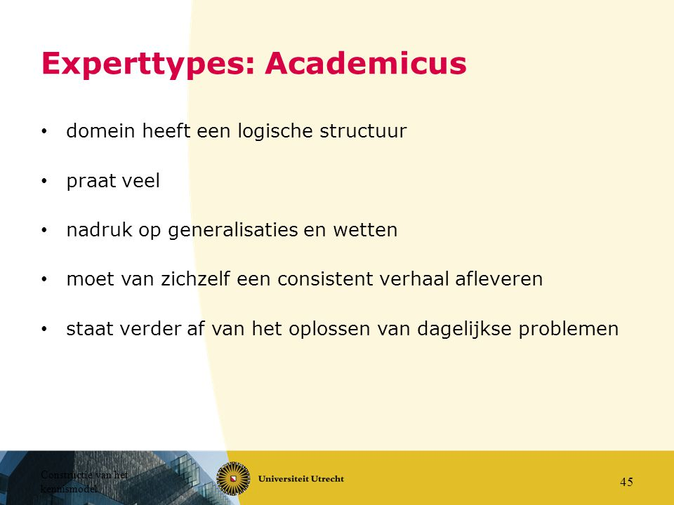 Experttypes: Academicus