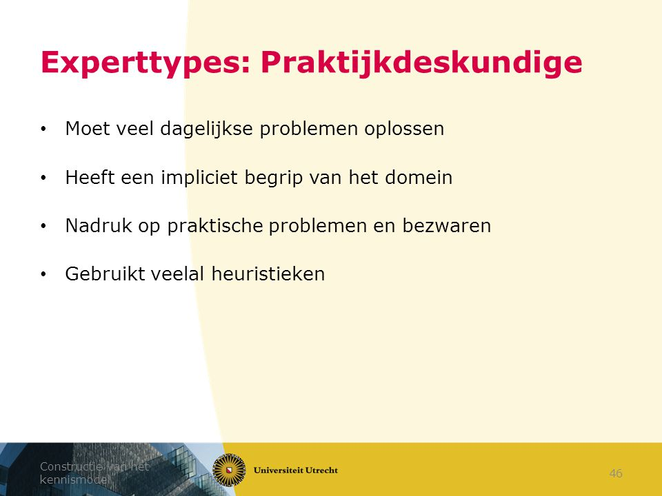 Experttypes: Praktijkdeskundige