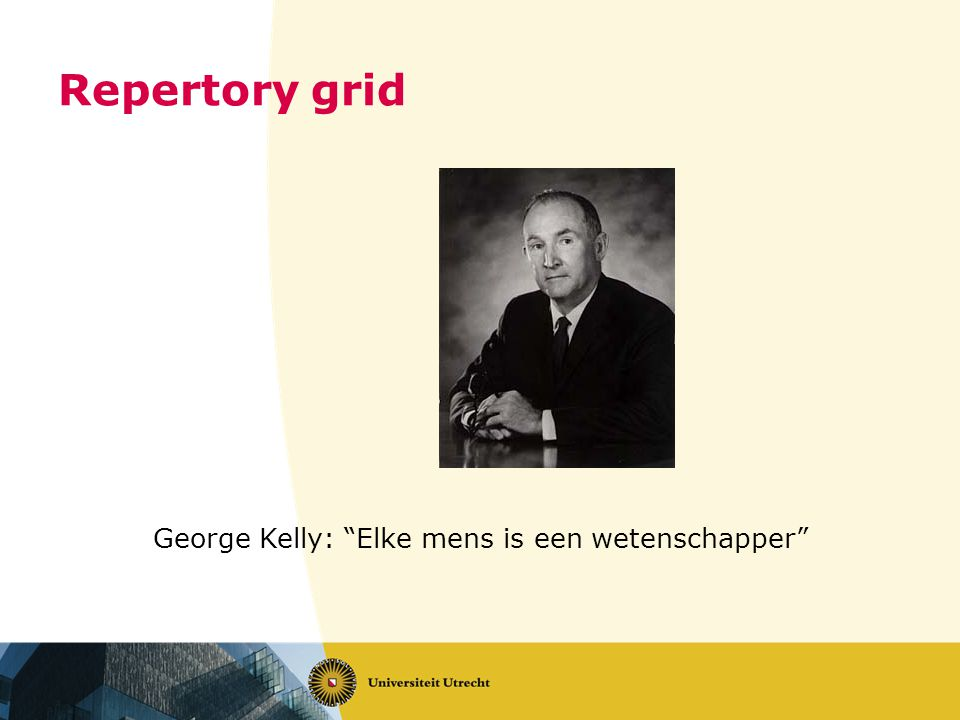 George Kelly: Elke mens is een wetenschapper