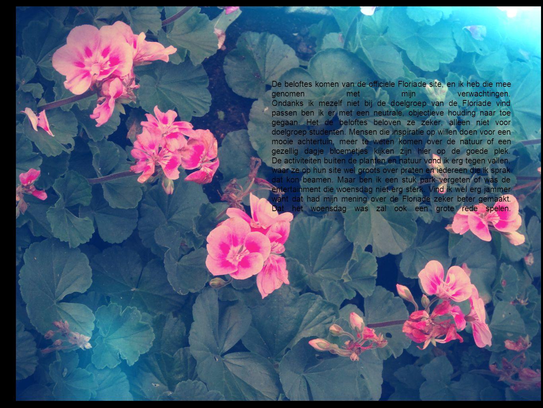 De beloftes komen van de officiele Floriade site, en ik heb die mee genomen met mijn verwachtingen.