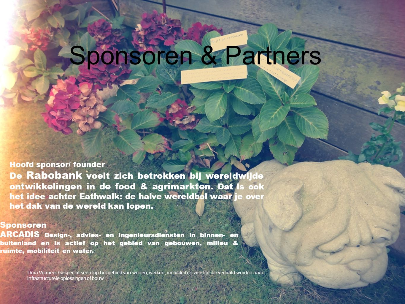 Sponsoren & Partners Hoofd sponsor/ founder.