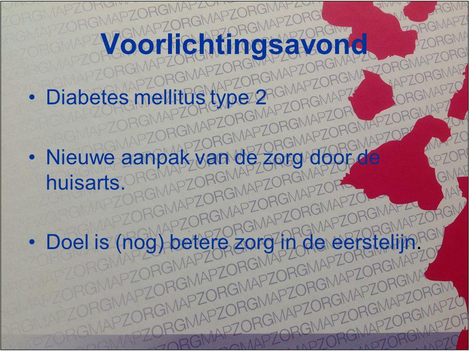 Voorlichtingsavond Diabetes mellitus type 2