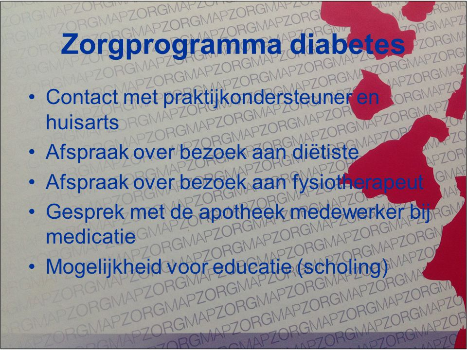 Zorgprogramma diabetes