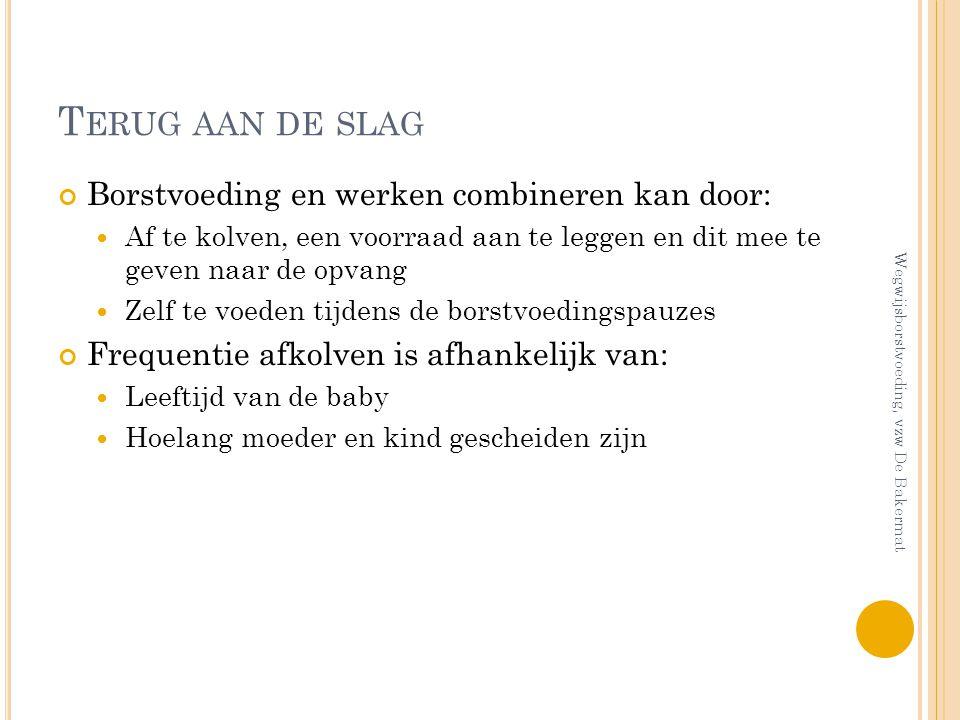 Terug aan de slag Borstvoeding en werken combineren kan door: