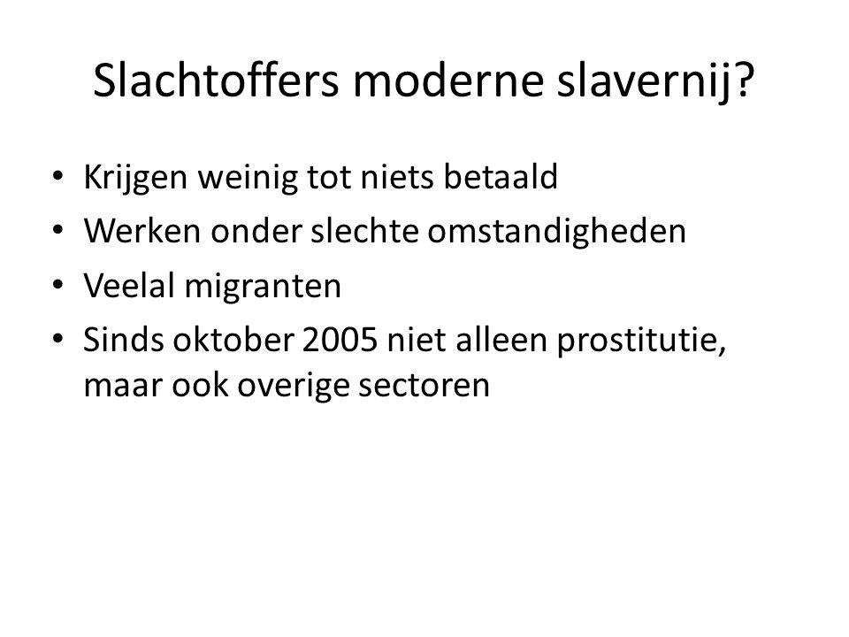 Slachtoffers moderne slavernij