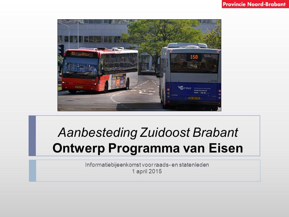 Aanbesteding Zuidoost Brabant Ontwerp Programma van Eisen