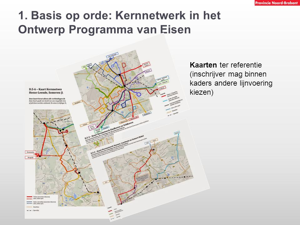 1. Basis op orde: Kernnetwerk in het Ontwerp Programma van Eisen