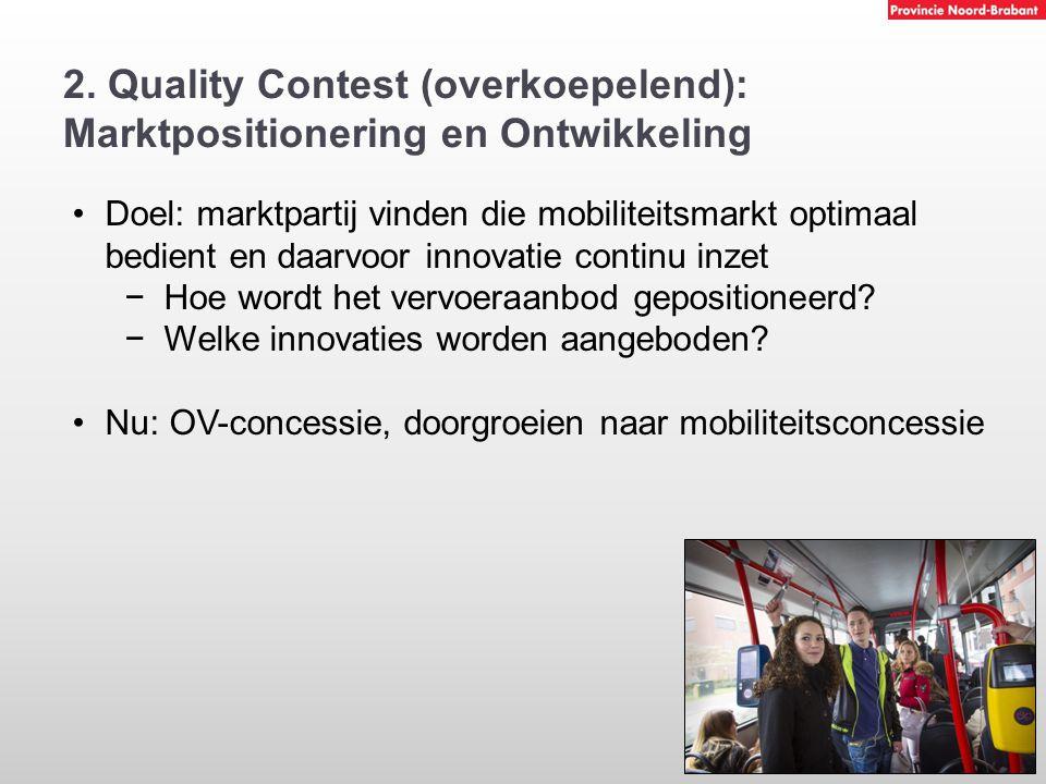 2. Quality Contest (overkoepelend): Marktpositionering en Ontwikkeling
