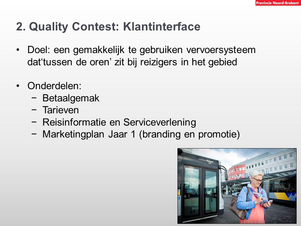 2. Quality Contest: Klantinterface
