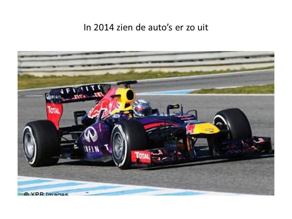 In 2014 zien de auto's er zo uit