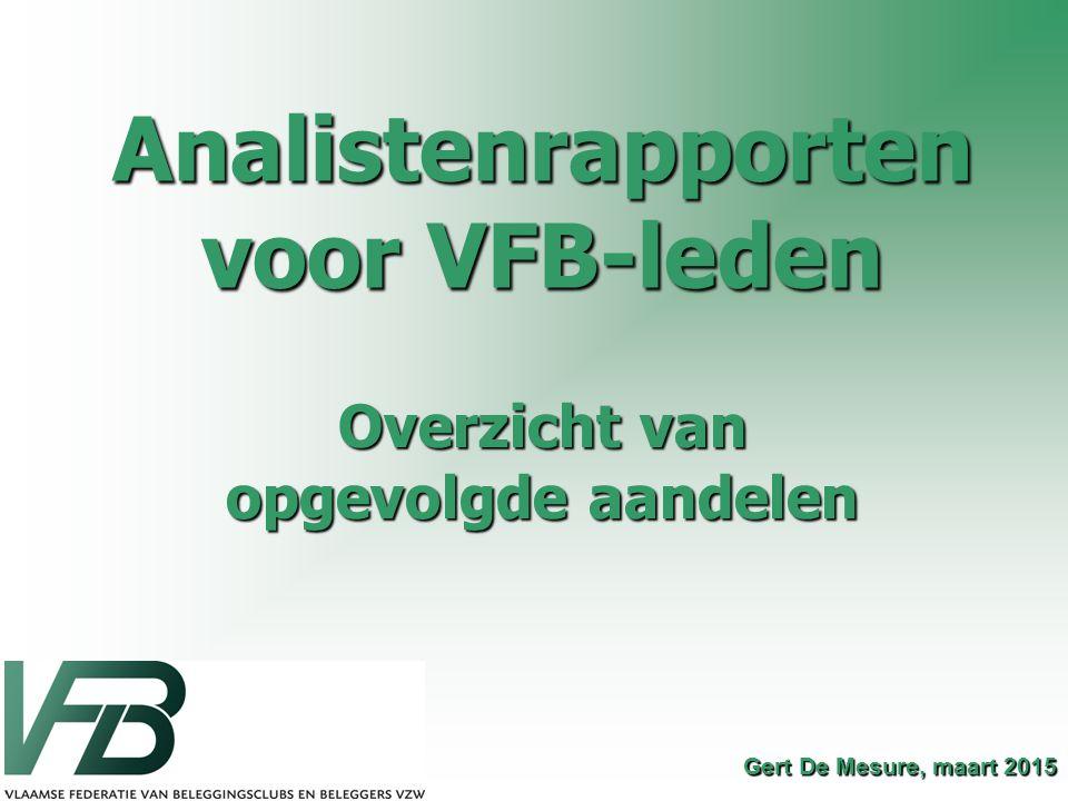 Analistenrapporten voor VFB-leden
