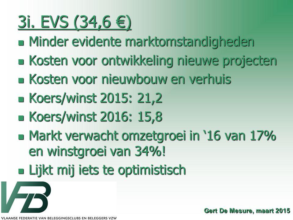3i. EVS (34,6 €) Minder evidente marktomstandigheden