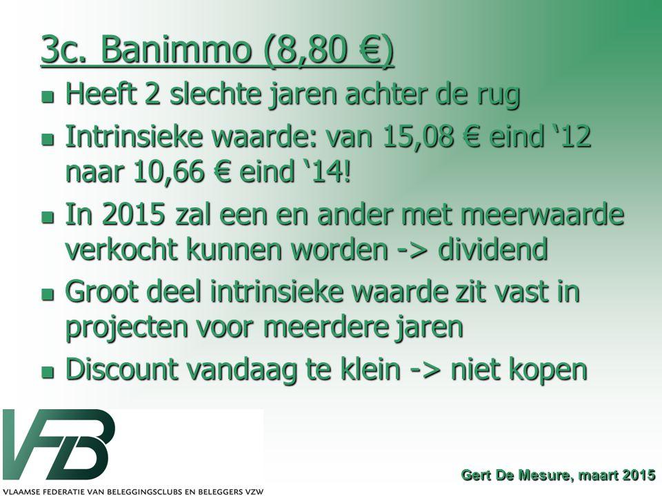3c. Banimmo (8,80 €) Heeft 2 slechte jaren achter de rug