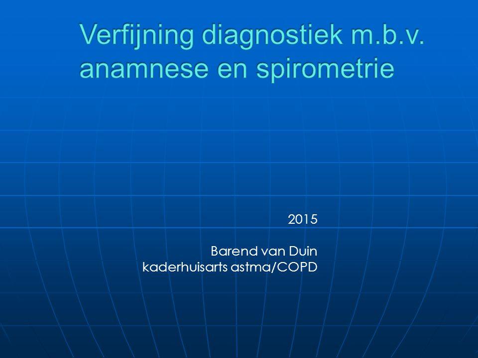 Verfijning diagnostiek m.b.v. anamnese en spirometrie