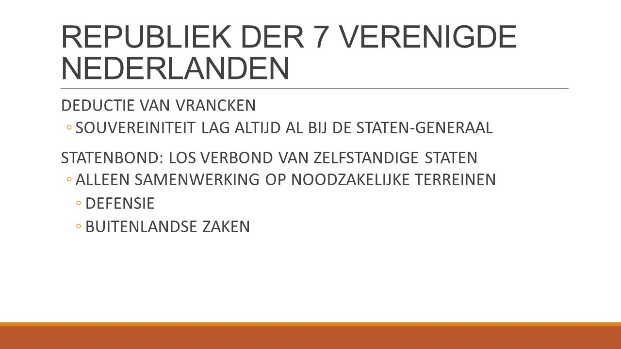 REPUBLIEK DER 7 VERENIGDE NEDERLANDEN