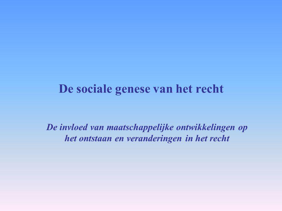 De sociale genese van het recht