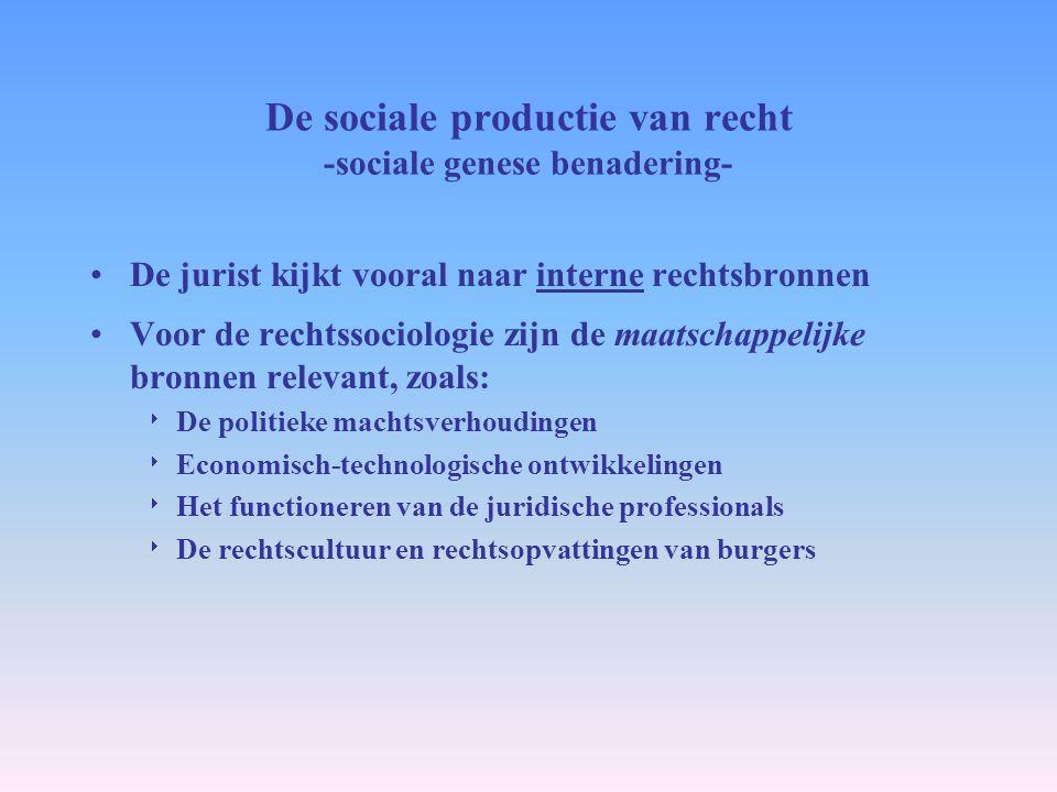 De sociale productie van recht -sociale genese benadering-