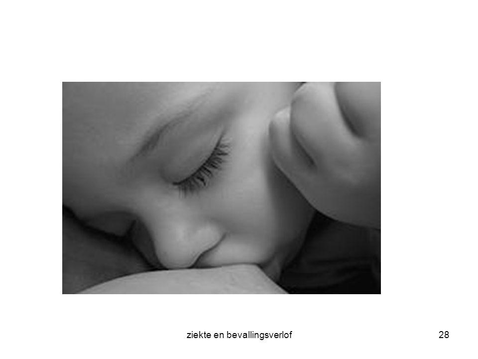 ziekte en bevallingsverlof
