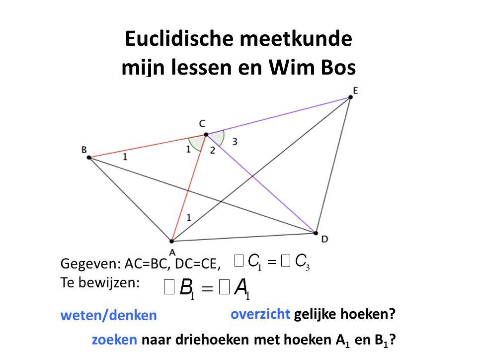 Euclidische meetkunde mijn lessen en Wim Bos